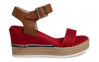 US POLO ASSN ESPADRILLES MICHELA RED WOMAN