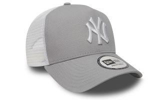 NEW ERA GORRA NEW YORK YANKEES CLEAN TRUCKER GRIS BLANCO