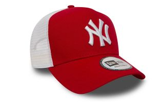 NEW ERA GORRA CLEAN TRUCKER ROJO BLANCO