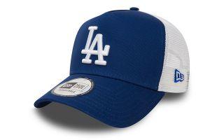 NEW ERA CAP CLEAN TRUCKER  BLUE WHITE