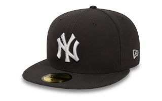 New Era CAPS NY YANKEES ESSENTIAL 59FIFTY GREY WHITE