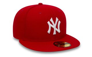New Era CAPPELLINO NEW YORK YANKEES ESSENTIAL 59FIFTY ROSSO BIANCO