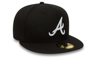 New Era CAP ATLANTA BRAVES ESSENTIAL 59FIFTY BLACK
