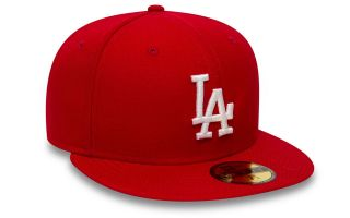 New Era CAPPELLINO LOS ANGELES DODGERS MLB BASIC 59FIFTY FITTED ROSSO