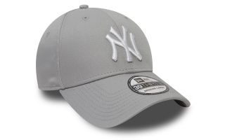 NEW ERA GORRA NEW YORK YANKEES ESSENTIAL BASIC 39THIRTY GRIS BLANCO