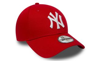 GORRA NY YANKEES LEAGUE BASIC 9FORTY ROJO BLANCO NIÑO