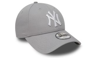 GORRA NEW YORK YANKEES LEAGUE BASIC 9FORTY GRIS BLANCO NIÑO