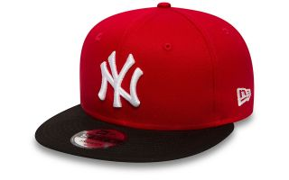 New Era CAPPELLINO NEW YORK YANKEES COTTON BLOCK 9FIFTY SNAPBACK ROSSO