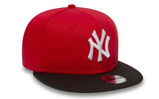 New Era BERRETTO NEW YORK YANKEES COTTON BLOCK 9FIFTY ROSSO NERO BAMBINO