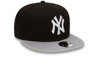 NEW ERA GORRA NY YANKEES COTTON BLOCK 9FIFTY NEGRO GRIS NI�O