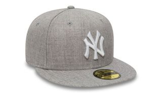 New Era CAP NY YANKEES ESSENTIAL 59FIFTY GREY WHITE