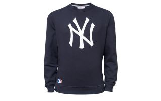 New Era FELPA MLB NEW YORK YANKEES TEAM BLU NAVY LOGO BIANCO