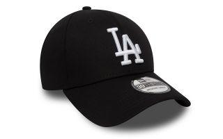 NEW ERA CAP LOS ANGELES DODGERS ESSENTIAL 39THIRTY BLACK WHITE