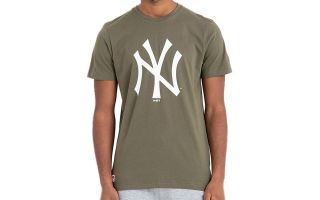 New Era T-SHIRT NEW YORK YANKEES MLB BASICS VERDE OLIVA