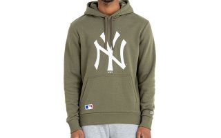 New Era FELPA NEW YORK YANKEES MLB PO VERDE OLIVA