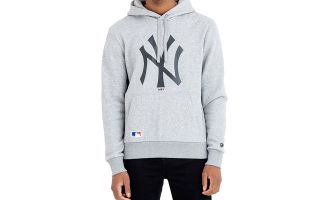 New Era SUDADERA NEW YORK YANKEES MLB GRIS NEGRO
