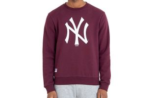 New Era SWEATSHIRT NEW YORK YANKEES MLB BASICS CREW GRANATROT