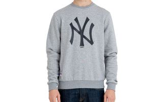 New Era SUDADERA MLB NEW YORK YANKEES TEAM GRIS LOGO NEGRO
