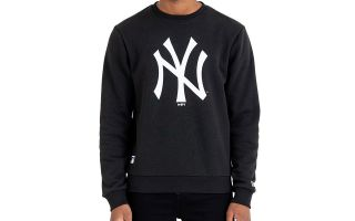New Era SUDADERA MLB NEW YORK YANKEES TEAM NEGRO LOGO BLANCO