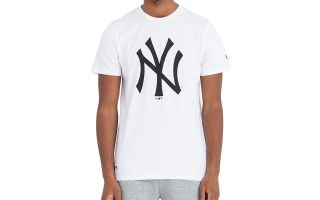 New Era T-SHIRT NEW YORK YANKEES MLB BASICS WHITE