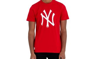 New Era T-SHIRT NEW YORK YANKEES MLB BASICS ROSSO