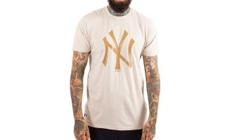 New Era T-SHIRT NEW YORK YANKEES LEAGUE COLOR PACK BEIGE