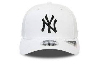 New Era CAP NEW YORK YANKEES ESSENTIAL STRETCH SNAP 9FIFTY WHITE BLACK