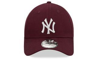 NEW ERA CAP NEW YORK YANKEES ESSENTIAL  39THIRTY GARNET
