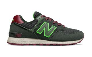 New Balance 574 GREEN RED