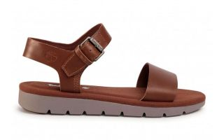 Timberland SANDALS LOTTIE LOU 1BAND BROWN WOMAN