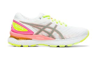 Asics GEL NIMBUS 22 LITE SHOW BLANCO CORAL MUJER 1012A766.100