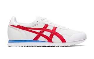 Asics TIGER RUNNER BLANC ROUGE 1191A207.104