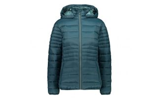 CMP JACKET SNAPS HOOD BLUE GREY WOMEN