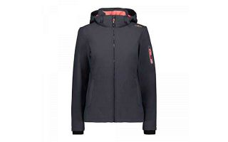 CMP GIACCA ZIP HOOD GRIGIO ROSSO DONNA