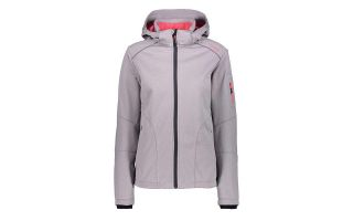 CMP CHAQUETA ZIP HOOD SOFTSHELL GRIS CORAL