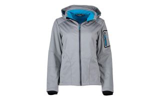 CMP JACKET WOMAN ZIP HOOD GREY BLUE