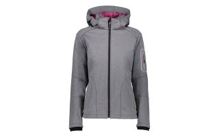 CMP JACKET WOMAN ZIP HOOD GREY