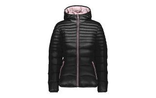 CMP JACKET WOMAN FIX HOOD BLACK PINK