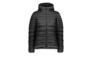CMP JACKET WOMAN FIX HOOD MATT BLACK
