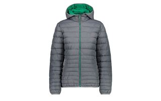 CMP JACKET WOMAN ZIP HOOD GREY GREEN