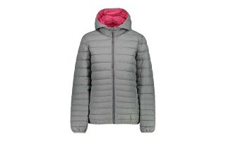 CMP CHAQUETA CAMPAGNOLO ZIP HOOD GRIS FUCSIA MUJER