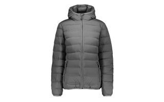 CMP CHAQUETA WOMAN FIX HOOD GRIS