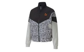 Puma CHAQUETA TFS TRACK AOP WOVEN NEGRO MUJER