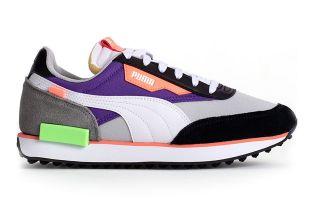 Puma FUTURE RIDER PLAY ON VIOLET BLANC 37114924