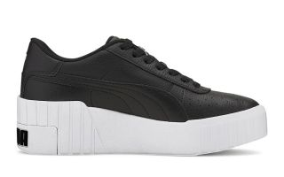 Puma CALI WEDGE BLACK WHITE WOMEN