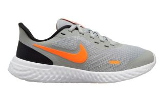 Nike REVOLUTION 5 GRIS NARANJA JUNIOR BQ5671-007