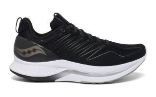 SAUCONY ENDORPHIN SHIFT BLACK WHITE