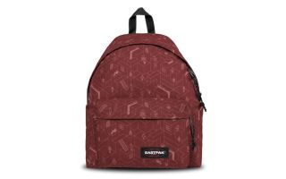EASTPAK BACKPACK PADDED PAK R BLOCKS BURGUNDY BLOCKS BRISK