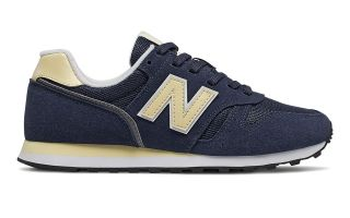 New Balance 373 NAVY BLUE YELLOW WOMEN