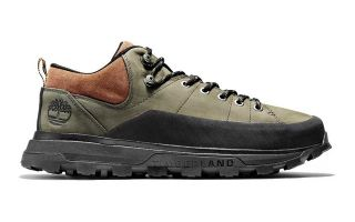 TREELINE LOW LEATHER HIKER VERDE OLIVA MARRONE